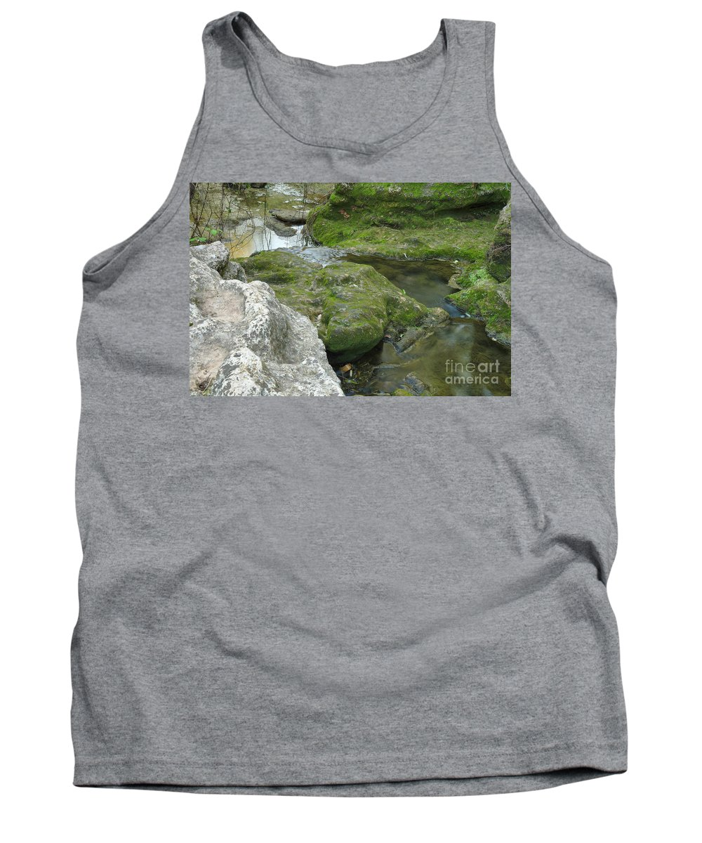 Tranquil Tank Top featuring the photograph Zen Creek Rocky Scenery by Angelo DeVal