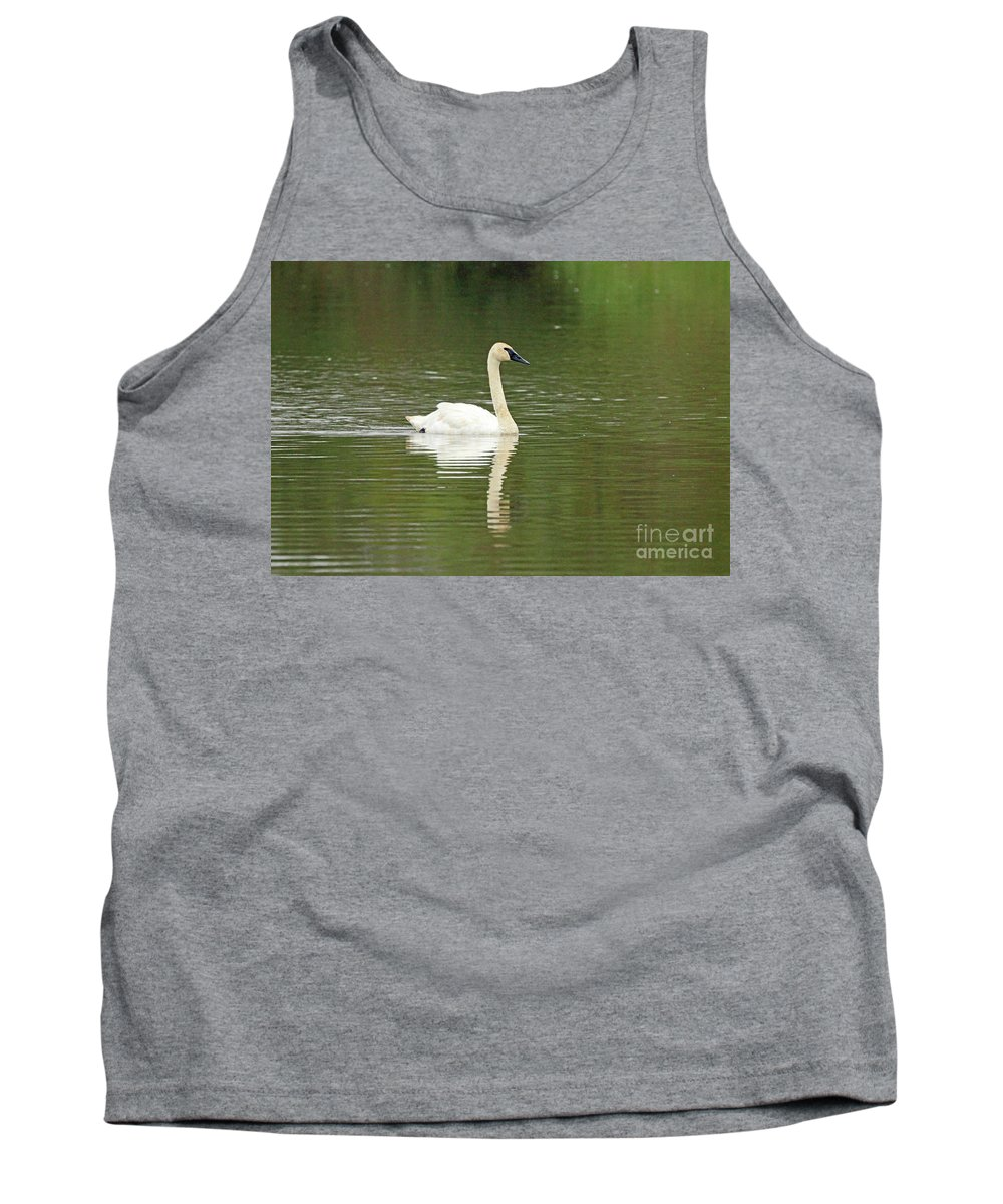 Swan Tank Top featuring the photograph White Beauty by Nicole Engelhardt