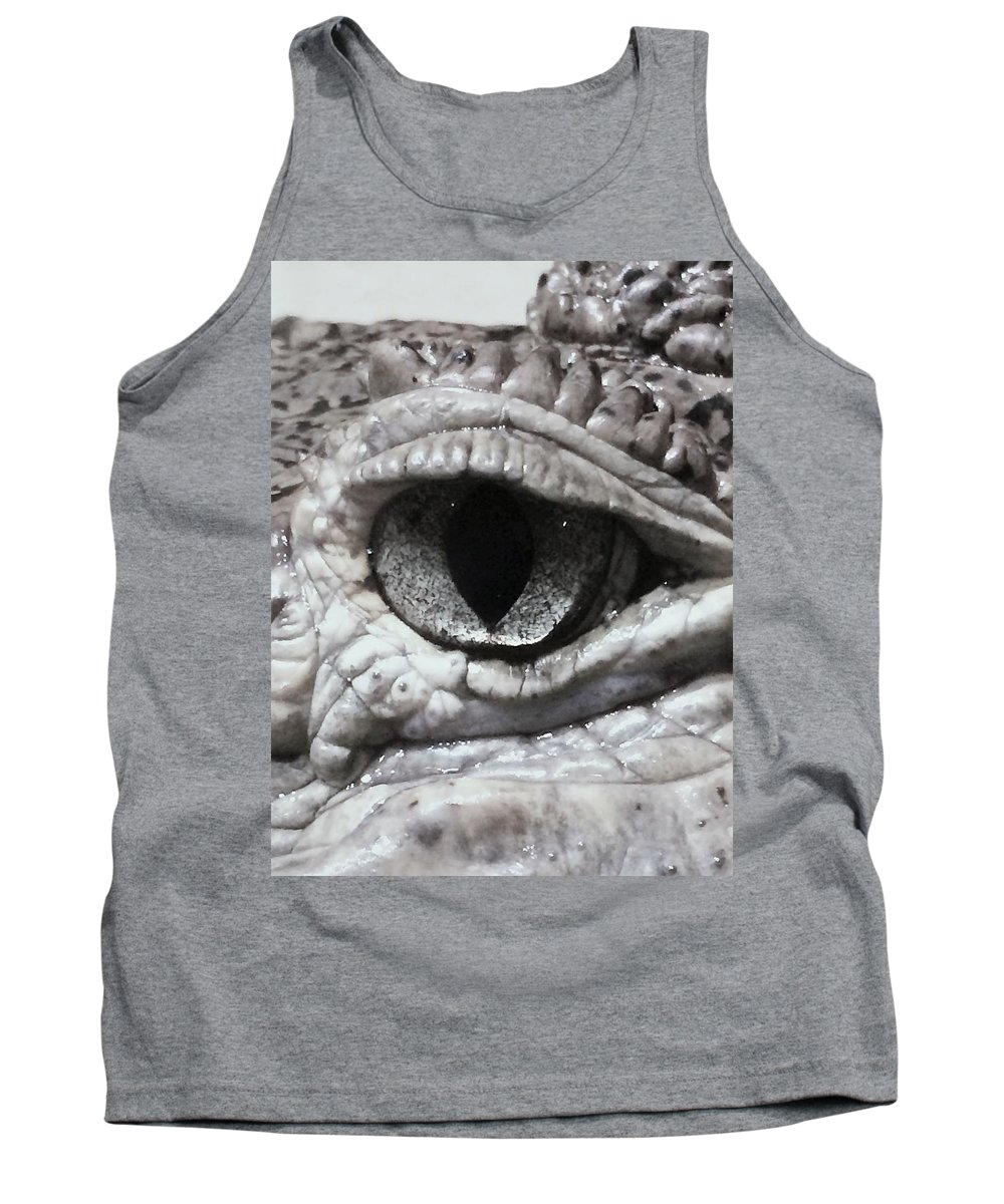 Nature Tank Top featuring the photograph Eye Of Alligator by Katherine Taibl