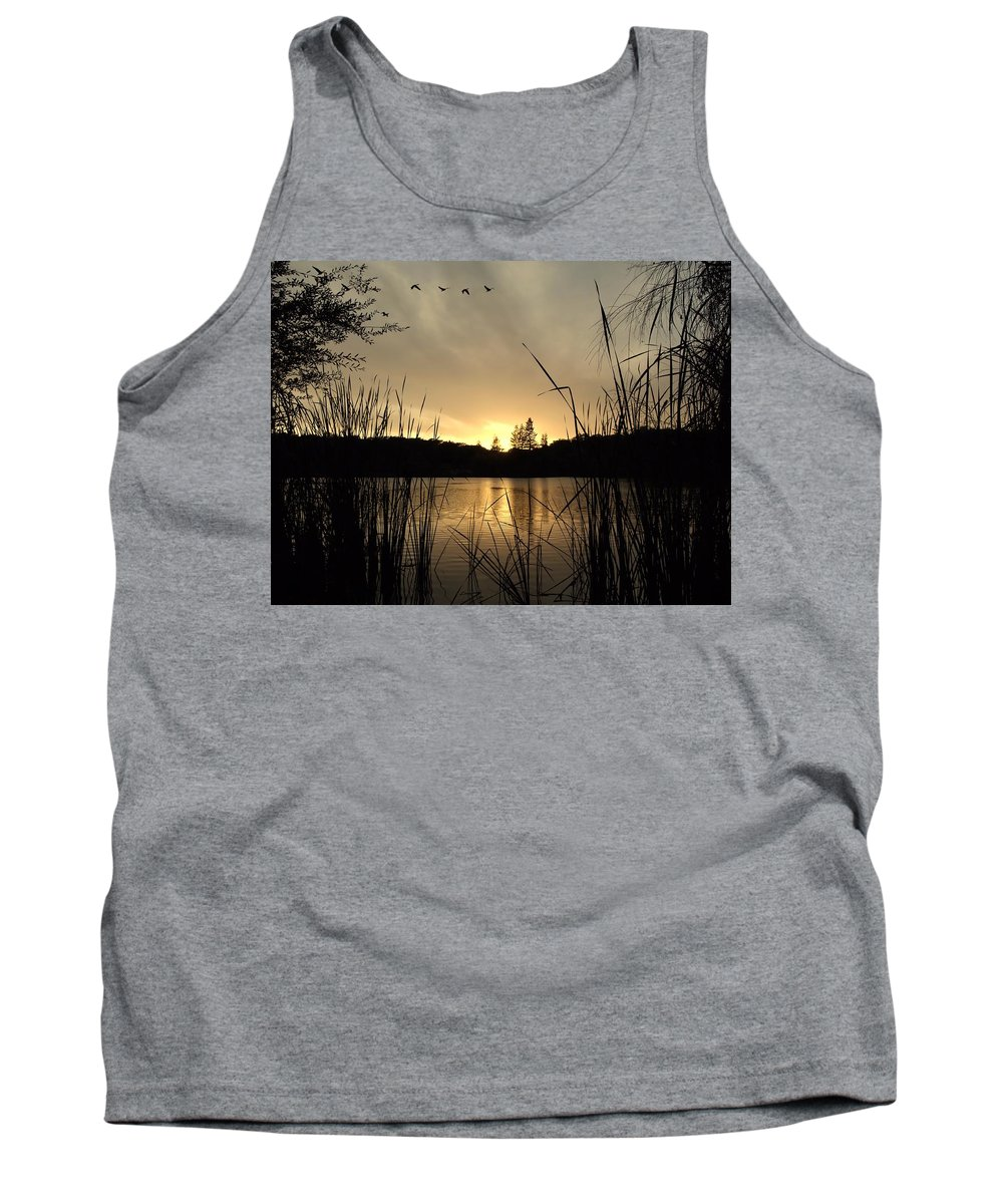 Landscape Tank Top featuring the photograph Flying Through A Sunset by Richard Thomas