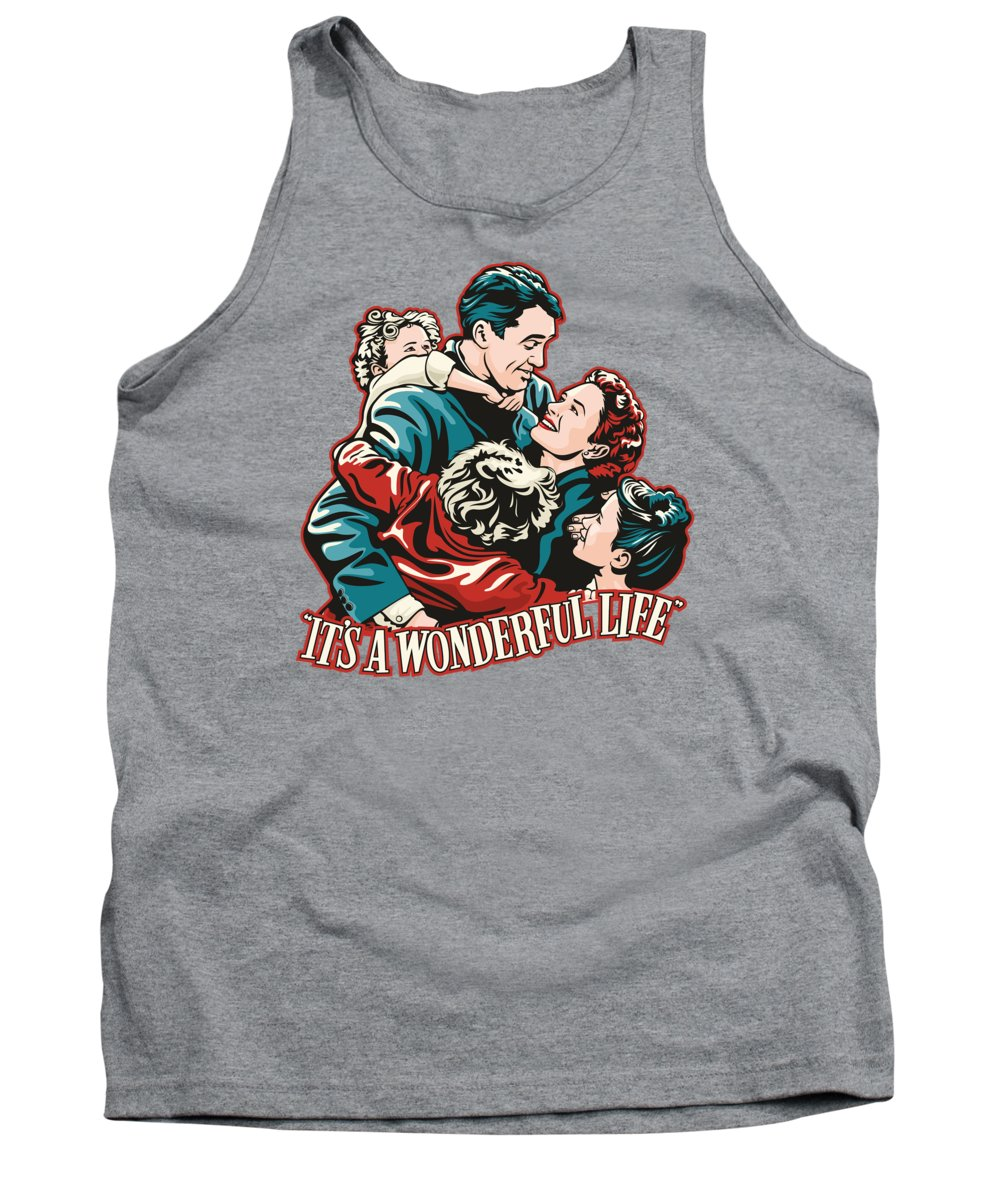 Wonderful Tank Top featuring the digital art It's A Wonderful Life by James Lee