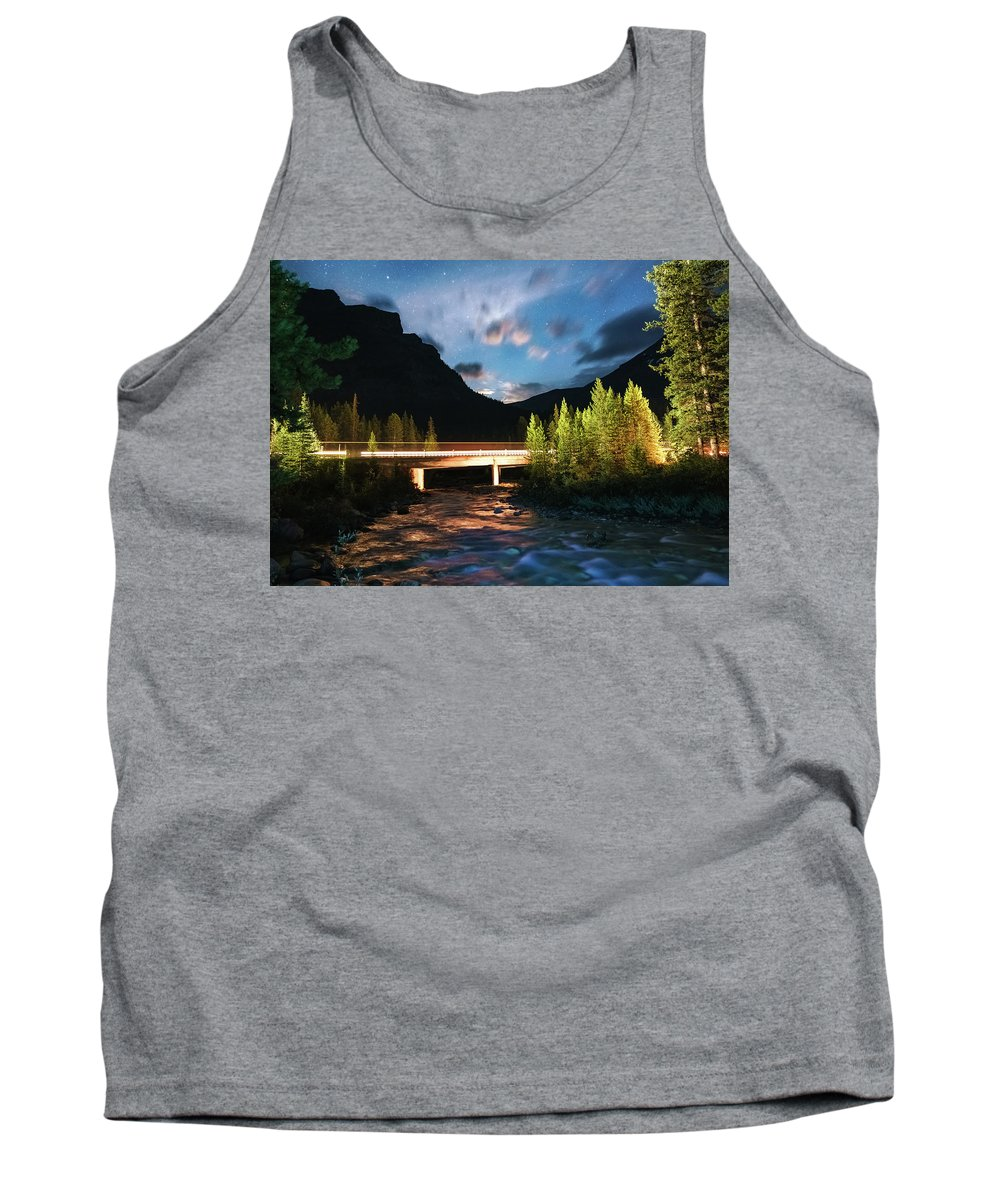Landscape Tank Top featuring the photograph Night Lights by Mogli Maureal