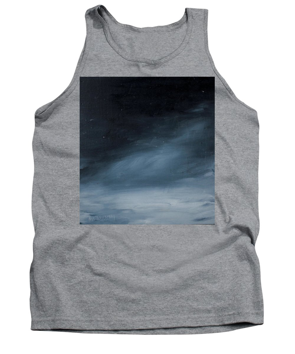 Reclaimed Art Tank Top featuring the painting Night Skies No. 3 by Anastasia D
