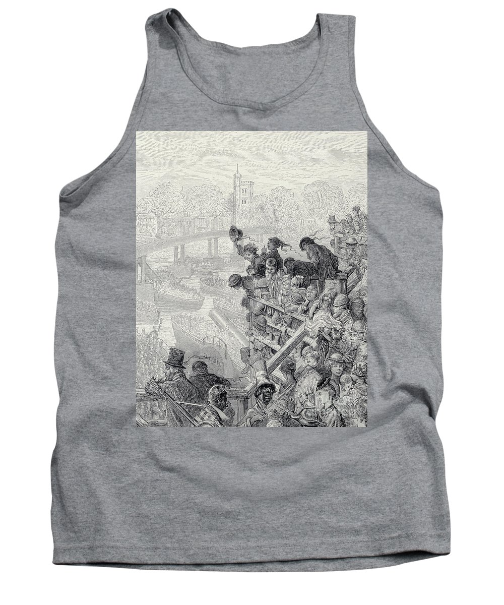 London Tank Top featuring the drawing Putney Bridge The Return, From London, A Pilgrimage by Gustave Dore