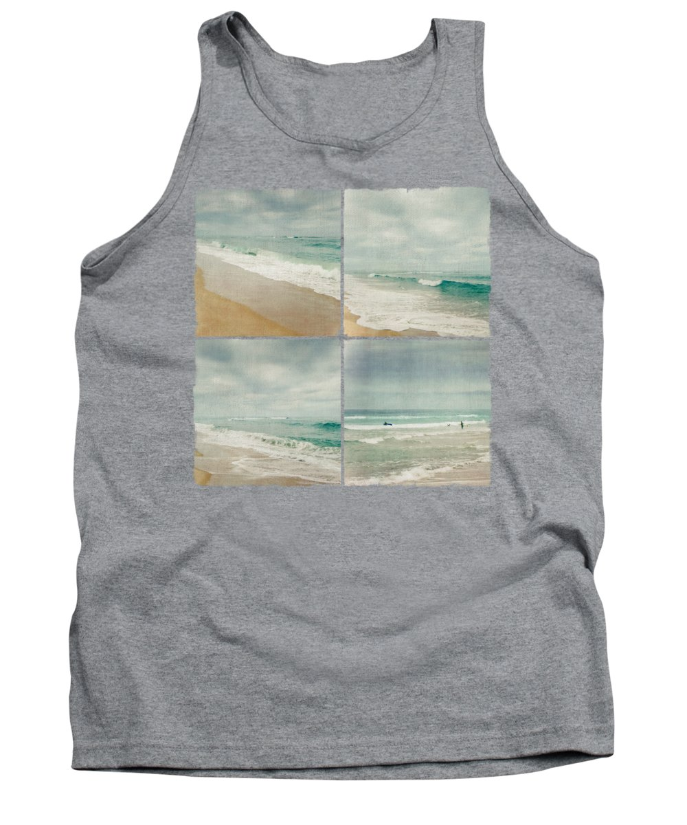 Summer Tank Top featuring the photograph Sea And Waves Mosaic by Dirk Wuestenhagen
