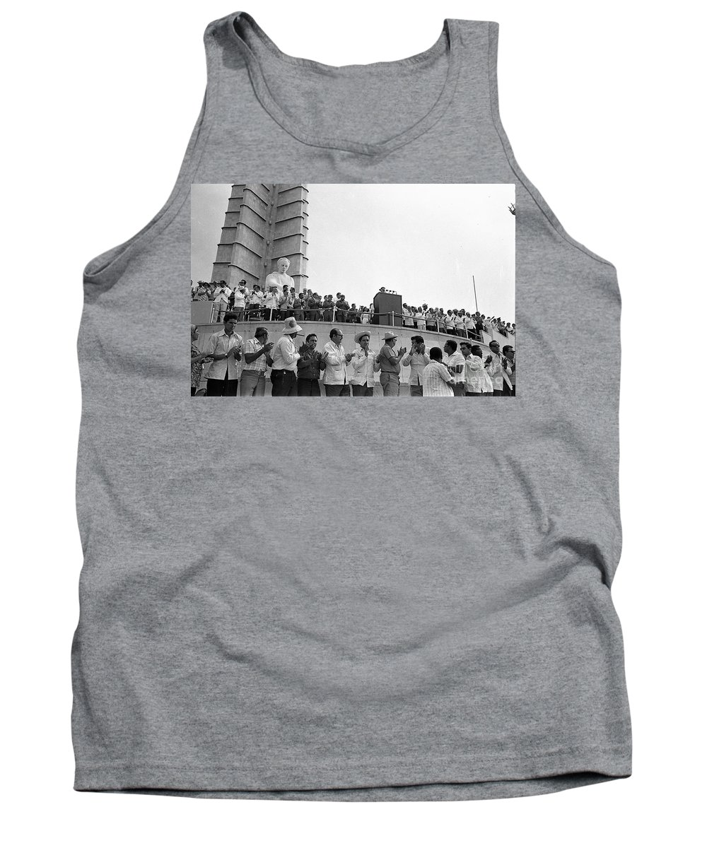 Observation To See Tank Top featuring the photograph Jose Marti Memorial by Venancio Diaz