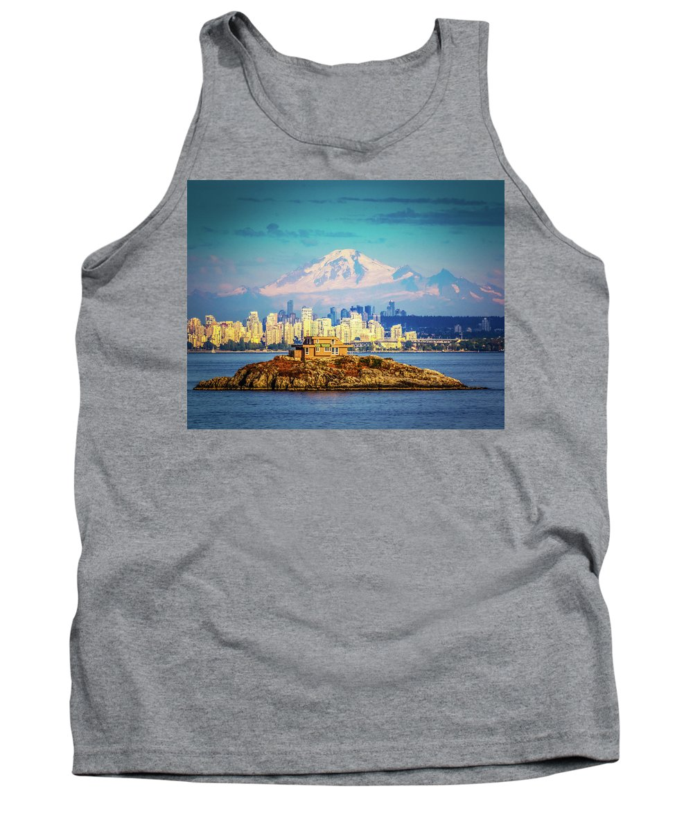 City Tank Top featuring the photograph Vancouver by Ken Foster