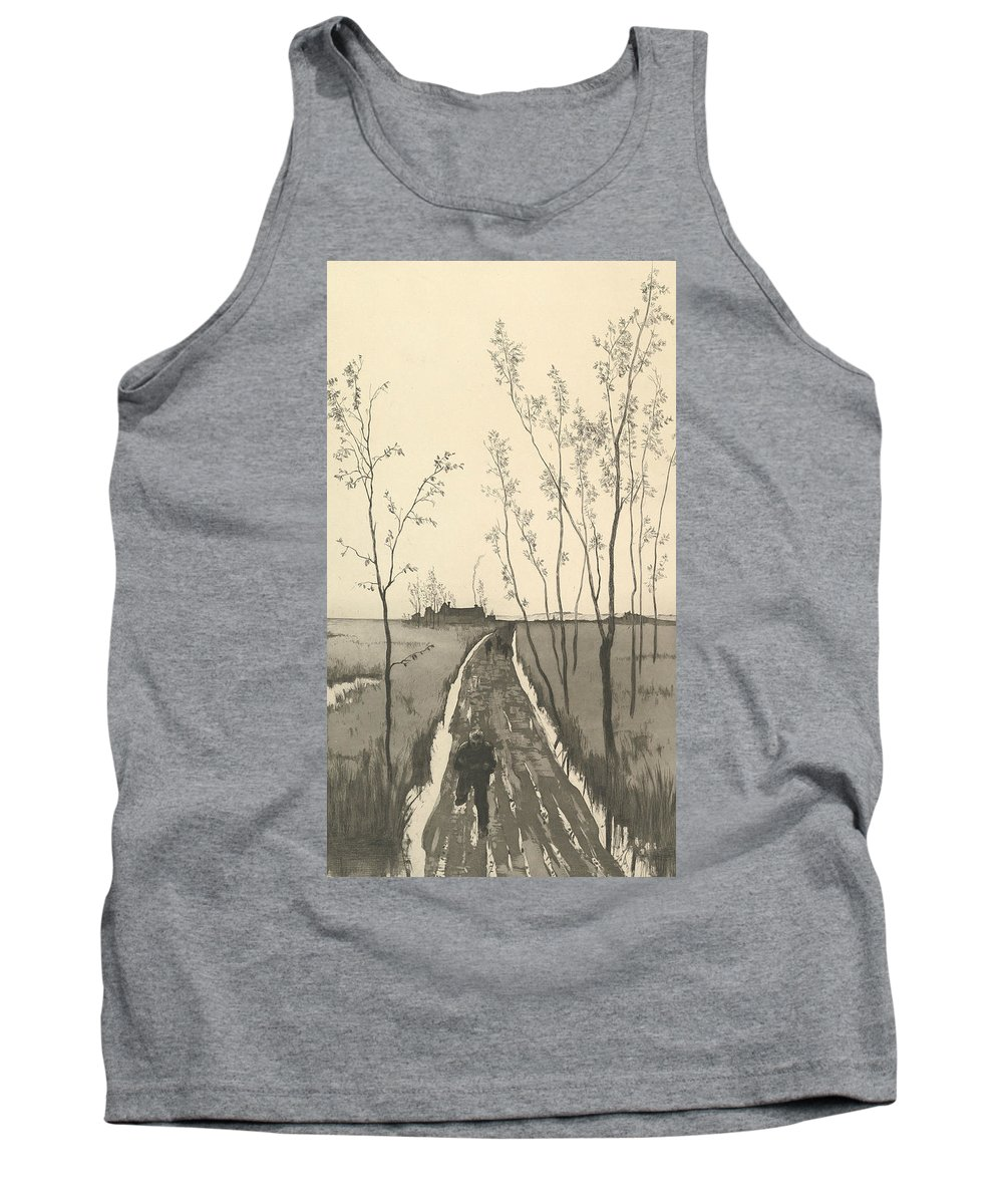 19th Century Art Tank Top featuring the relief Verfolgung, From The Series Radierte Skizzen by Max Klinger