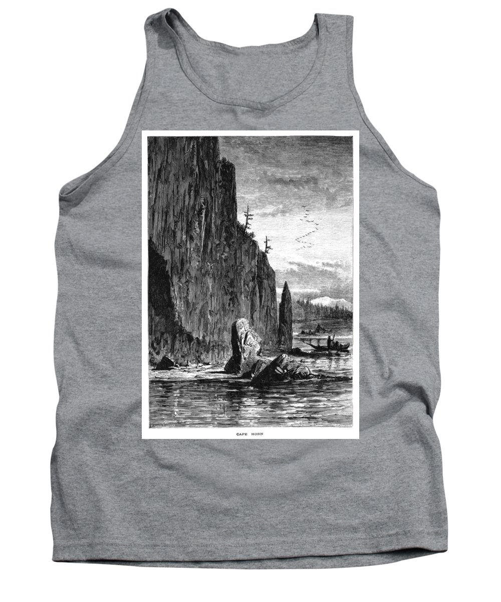B1019 Tank Top featuring the drawing Washington: Cape Horn by Robert Swain Gifford