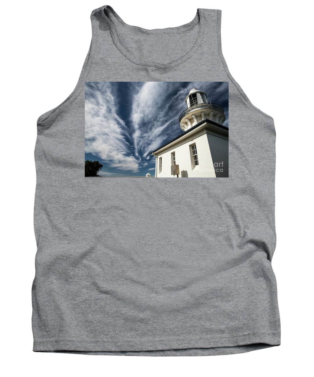 Smoky Cape Lighthouse Tank Top featuring the photograph Smoky Cape lighthouse by Sheila Smart Fine Art Photography