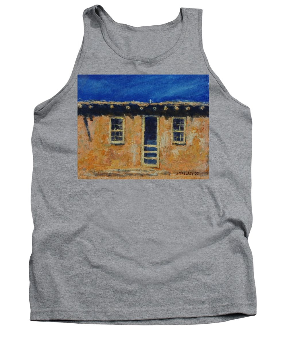 Acoma Tank Top featuring the painting Acoma by Jerry McElroy
