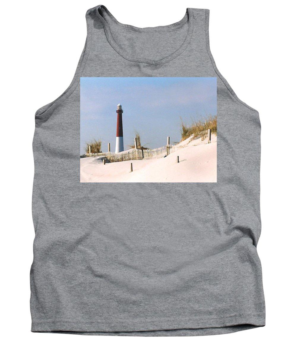 Barnegat Tank Top featuring the photograph Barnegat Lighthouse by Steve Karol
