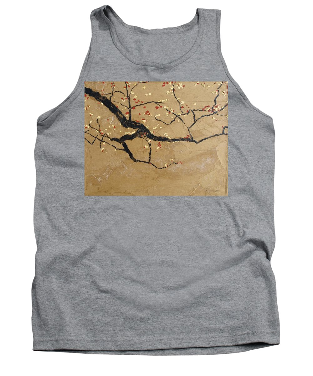 Blooming Branch Tank Top featuring the painting Branch by Leah Tomaino