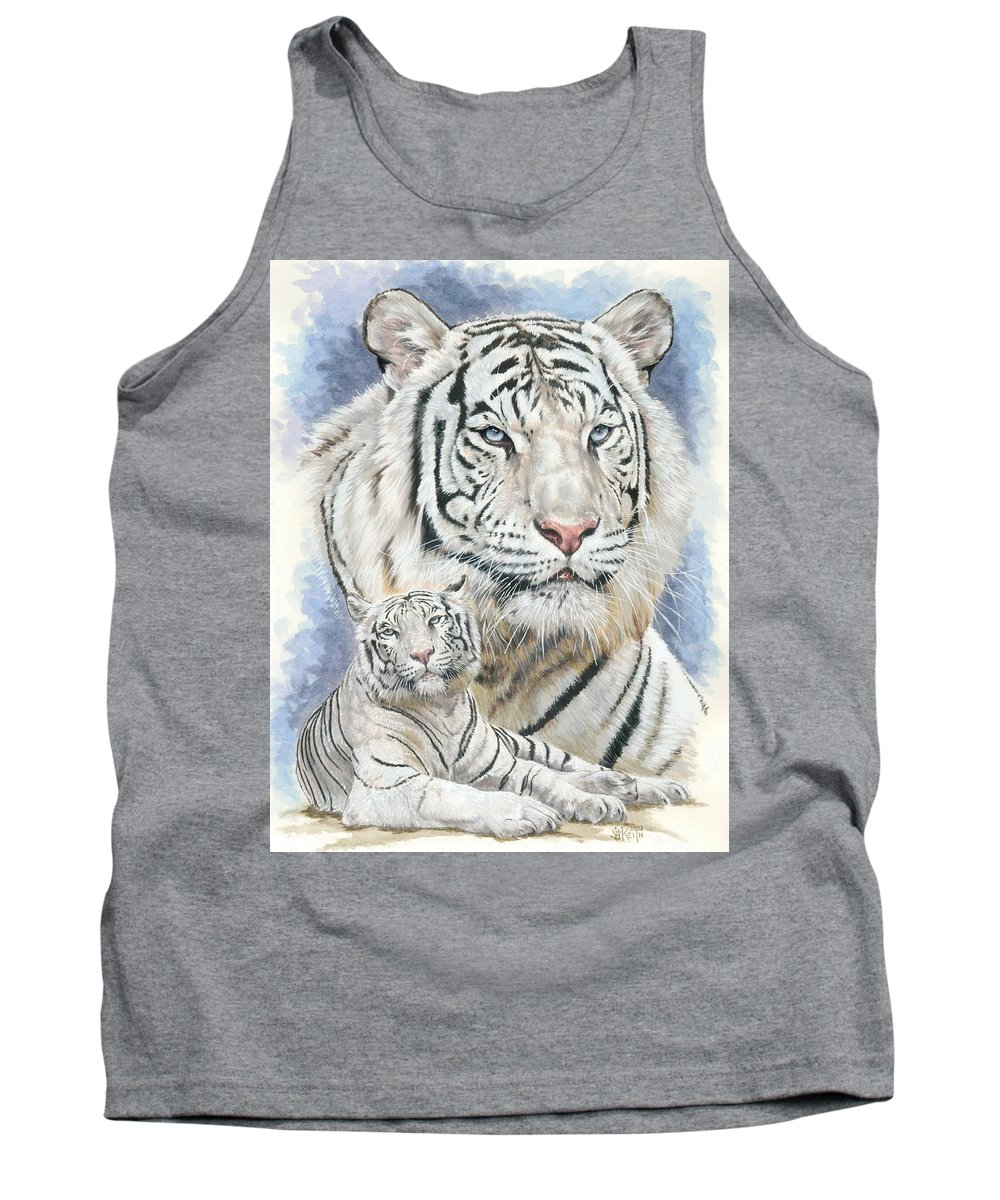 Big Cat Tank Top featuring the mixed media Dignity by Barbara Keith
