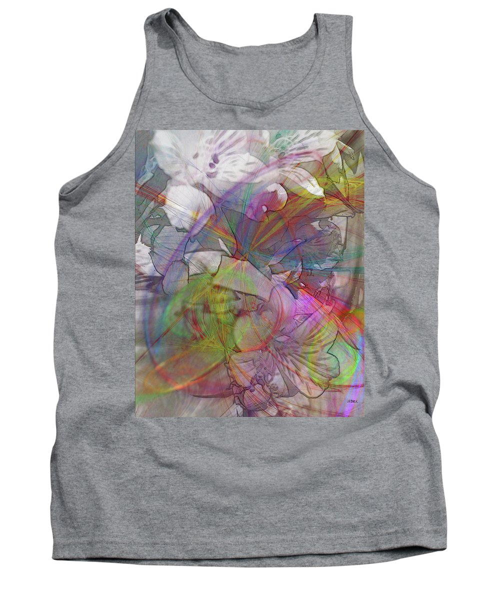 Floral Fantasy Tank Top featuring the digital art Floral Fantasy by John Robert Beck