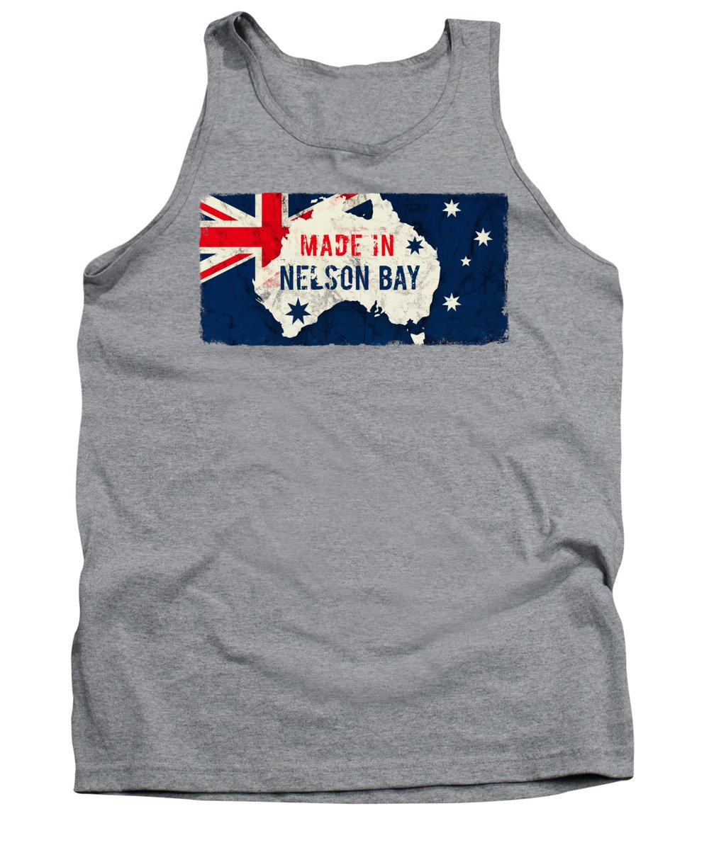 Nelson Bay Tank Top featuring the digital art Made In Nelson Bay, Australia by TintoDesigns
