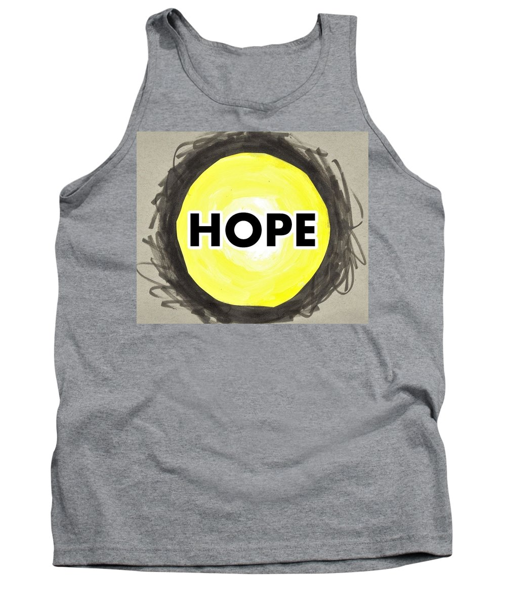 Hope Tank Top featuring the mixed media My Hope by Jim Harris