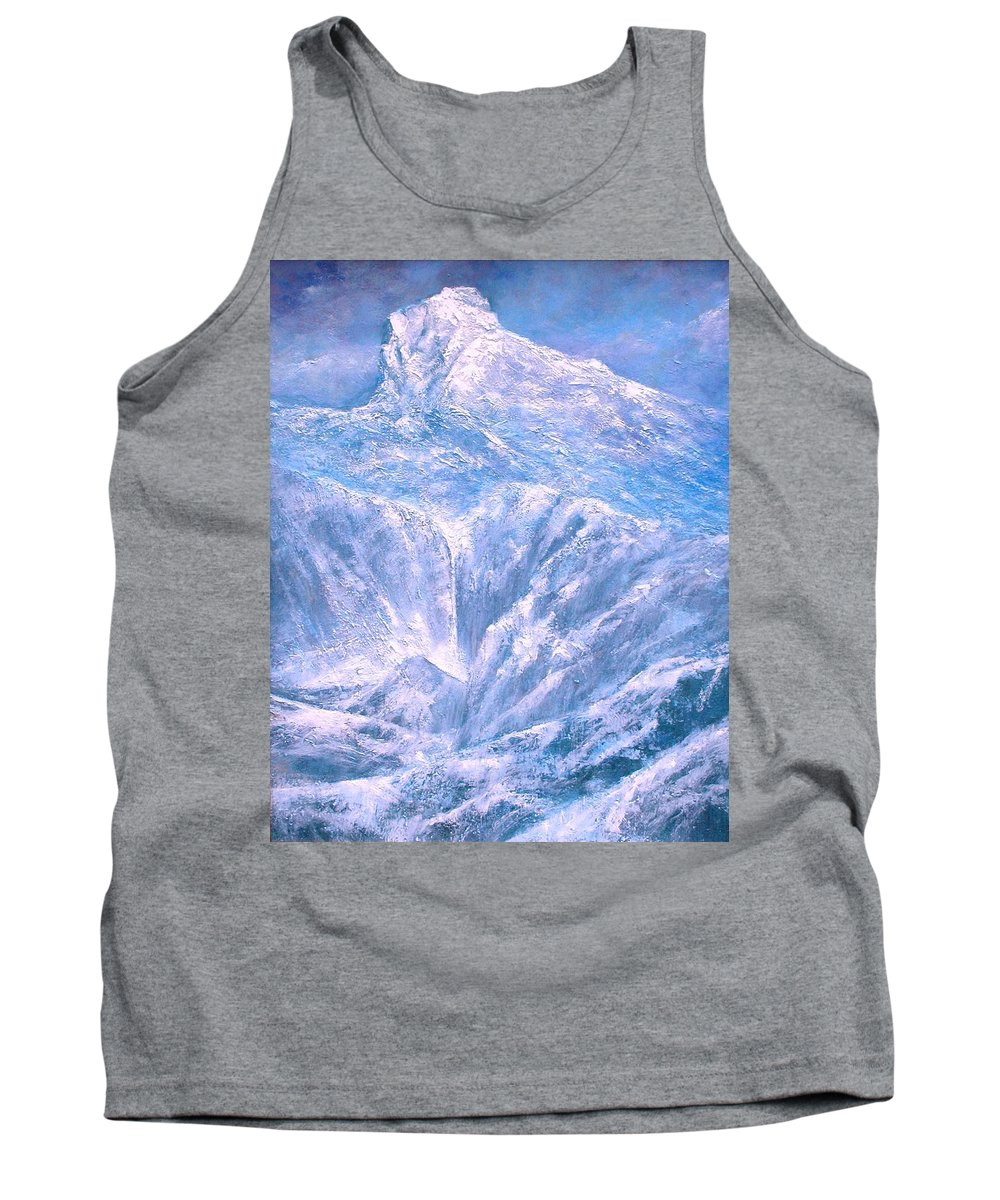 Landscape Tank Top featuring the painting Near the Tetons by Jim Gola
