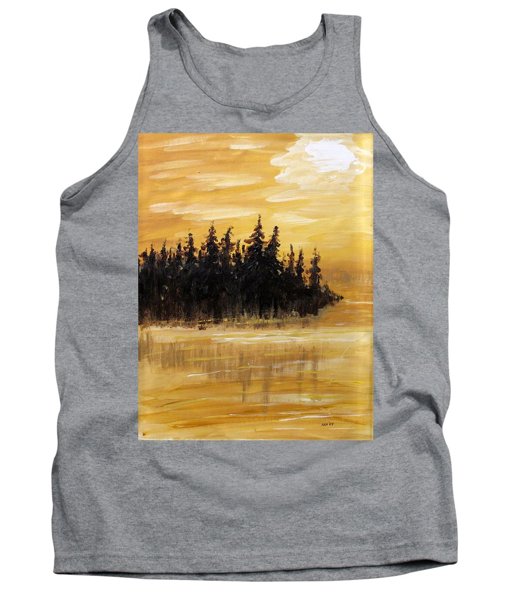 Northern Ontario Tank Top featuring the painting Northern Ontario One by Ian MacDonald