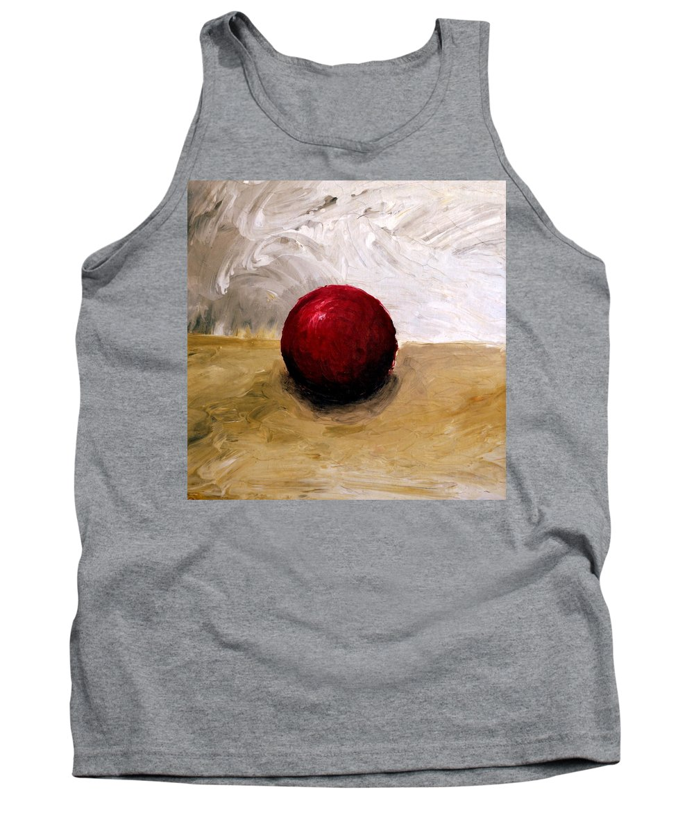 Red Tank Top featuring the painting Red Sphere by Michelle Calkins