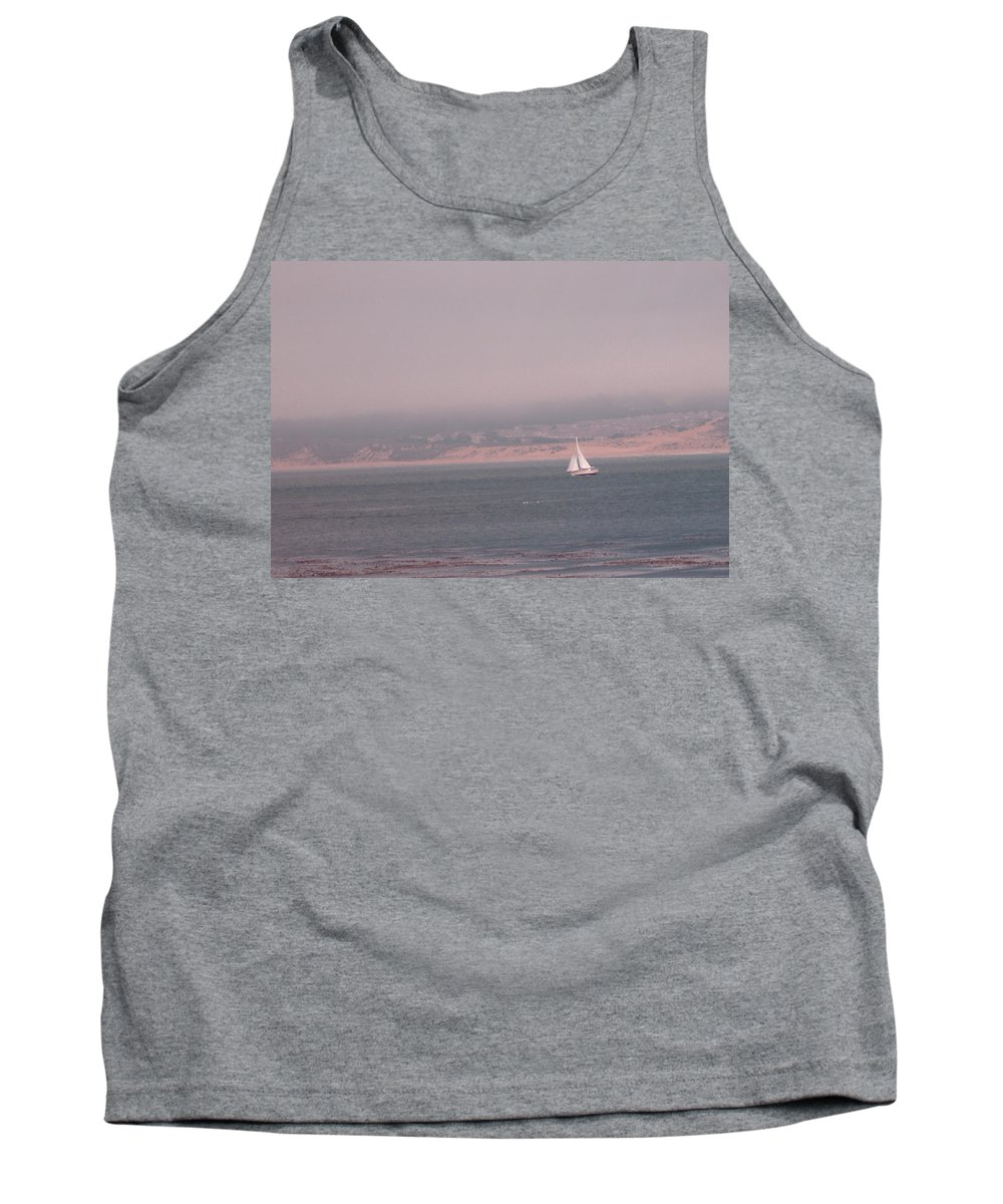 Sailing Solo Tank Top featuring the photograph Sailing Solo by Pharris Art