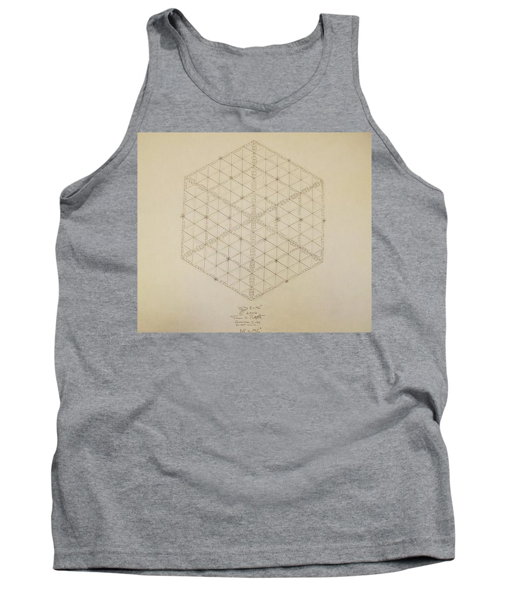 E=mc2 Tank Top featuring the drawing Why E equals MC2 by Jason Padgett
