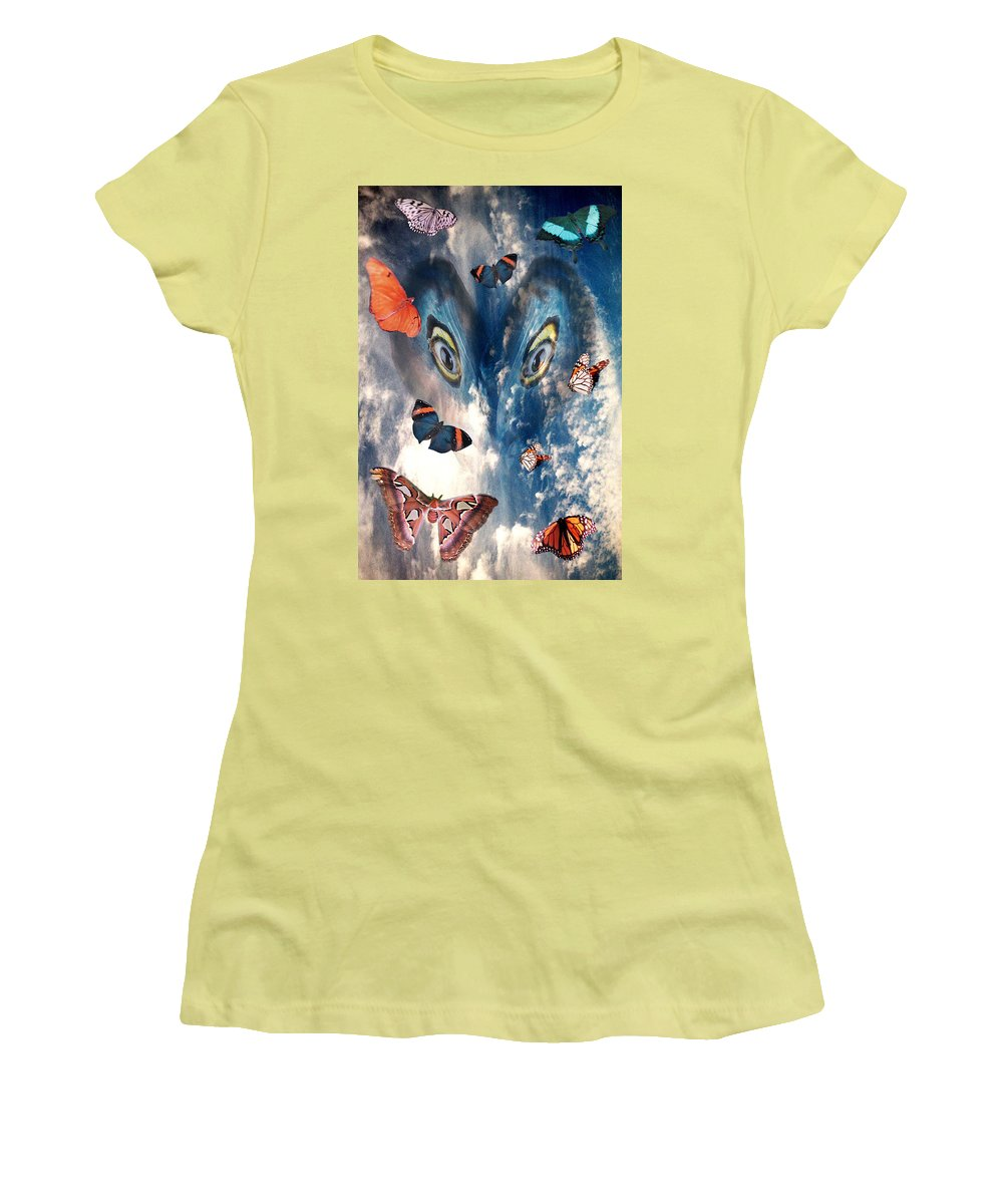 Air Women's T-Shirt (Athletic Fit) featuring the digital art Air by Lisa Yount