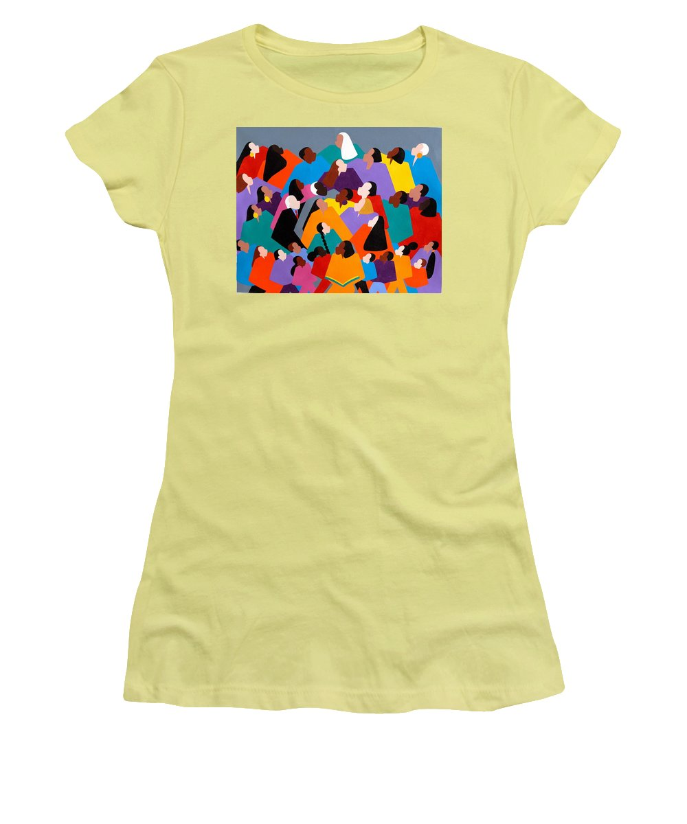 Figurative Women's T-Shirt (Athletic Fit) featuring the painting Brilliance by Synthia SAINT JAMES