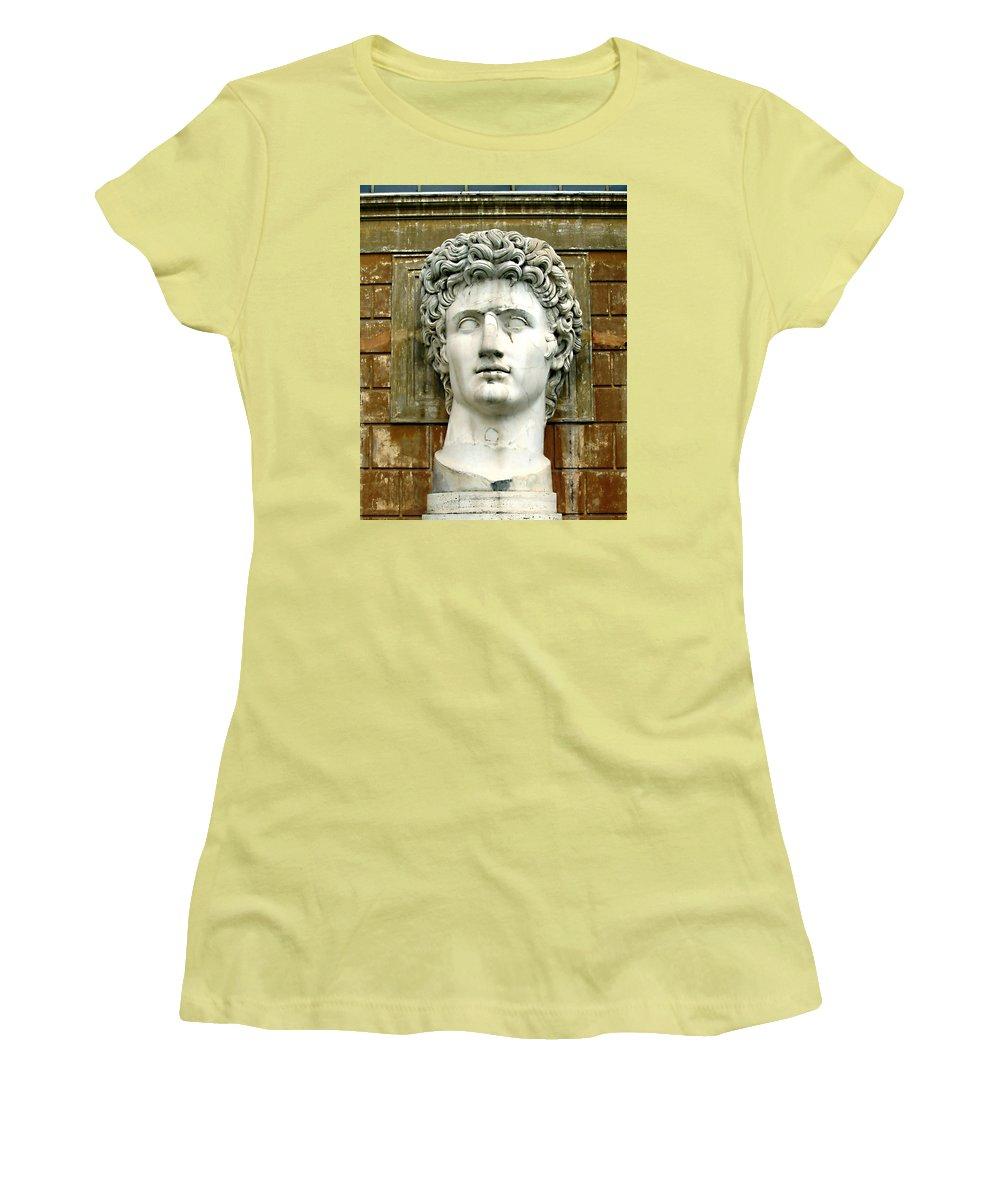 Caesar Augustus Women's T-Shirt (Athletic Fit) featuring the photograph Caesar Augustus by Ellen Henneke