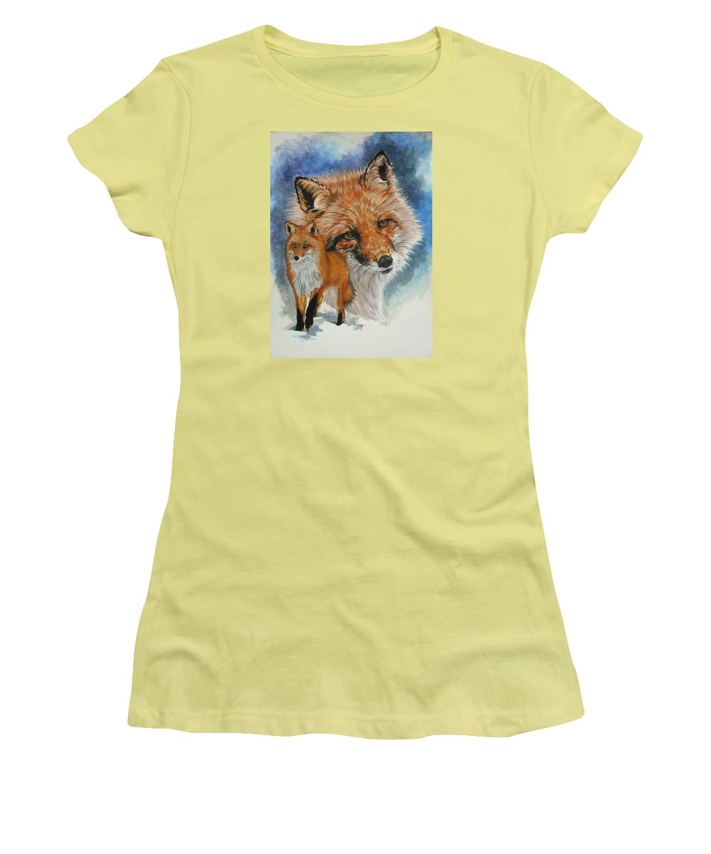Fox Women's T-Shirt (Athletic Fit) featuring the mixed media Cunning by Barbara Keith