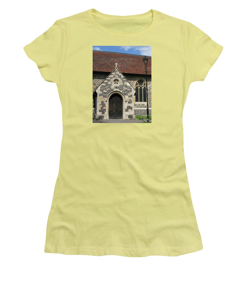 Church Women's T-Shirt (Athletic Fit) featuring the photograph Faithful by Ann Horn