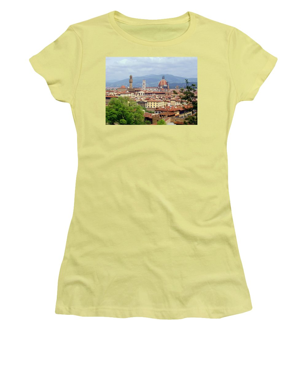 Florence Women's T-Shirt (Athletic Fit) featuring the photograph Florence by Ellen Henneke