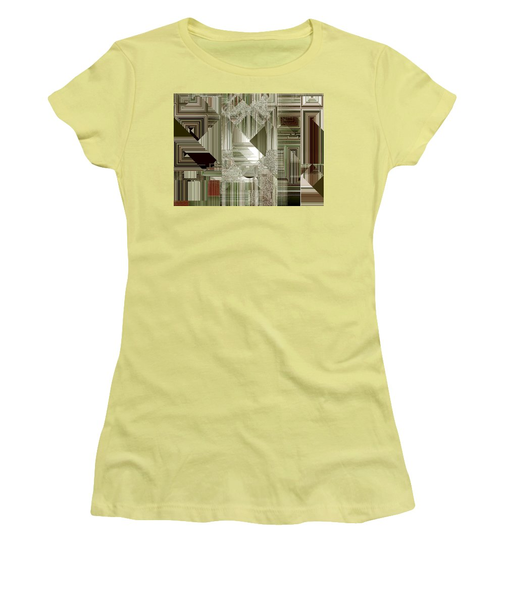 Abstract Women's T-Shirt (Athletic Fit) featuring the painting Indecision I by RC deWinter