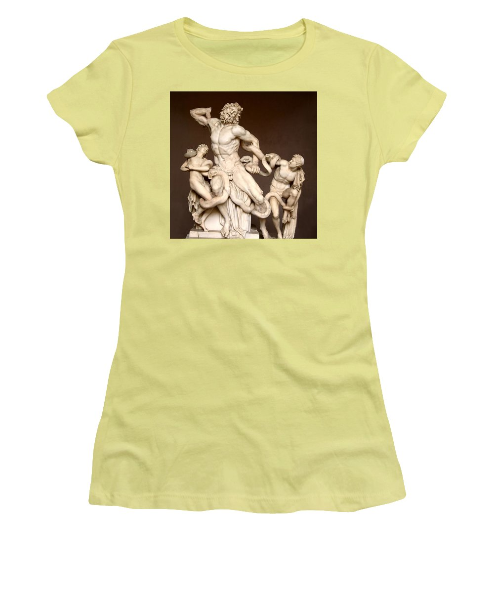 Laocoon And Sons Women's T-Shirt (Athletic Fit) featuring the photograph Laocoon And Sons by Ellen Henneke