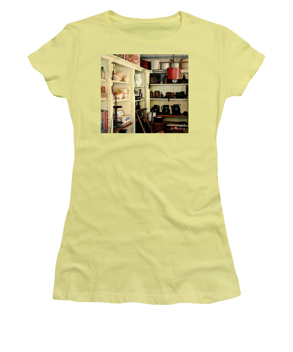 Antiques Women's T-Shirt (Athletic Fit) featuring the painting Needful Things by RC DeWinter