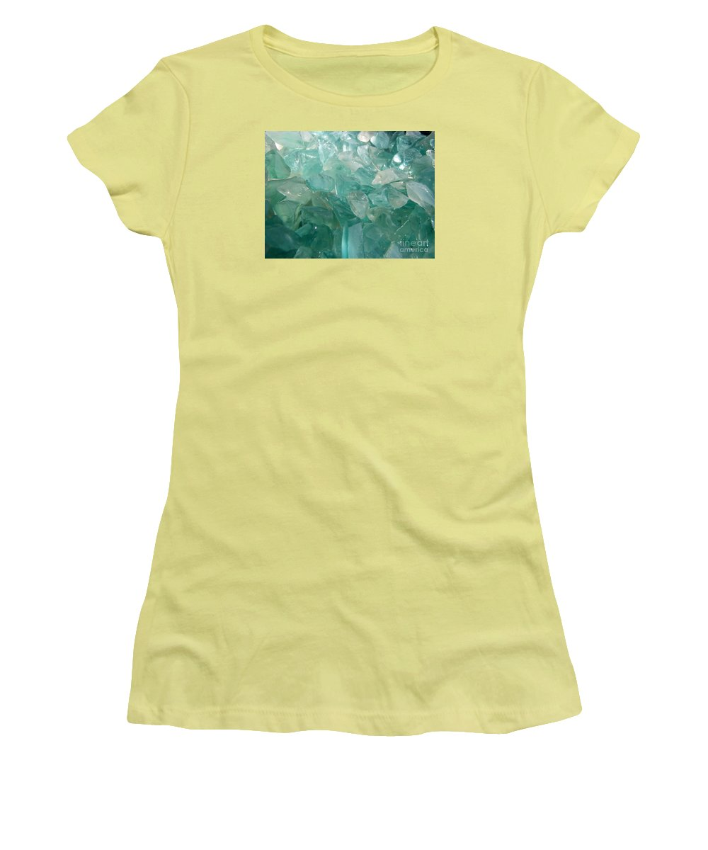 Ocean Sea Glass Teal Light Women's T-Shirt (Athletic Fit) featuring the photograph Ocean Dream by Kristine Nora