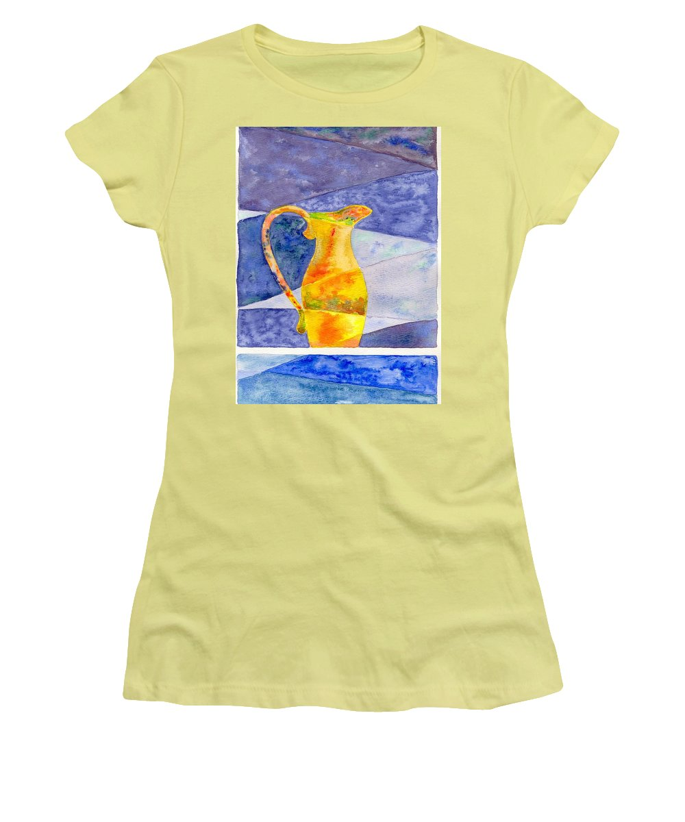 Still Life Women's T-Shirt (Athletic Fit) featuring the painting Pitcher 1 by Micah Guenther