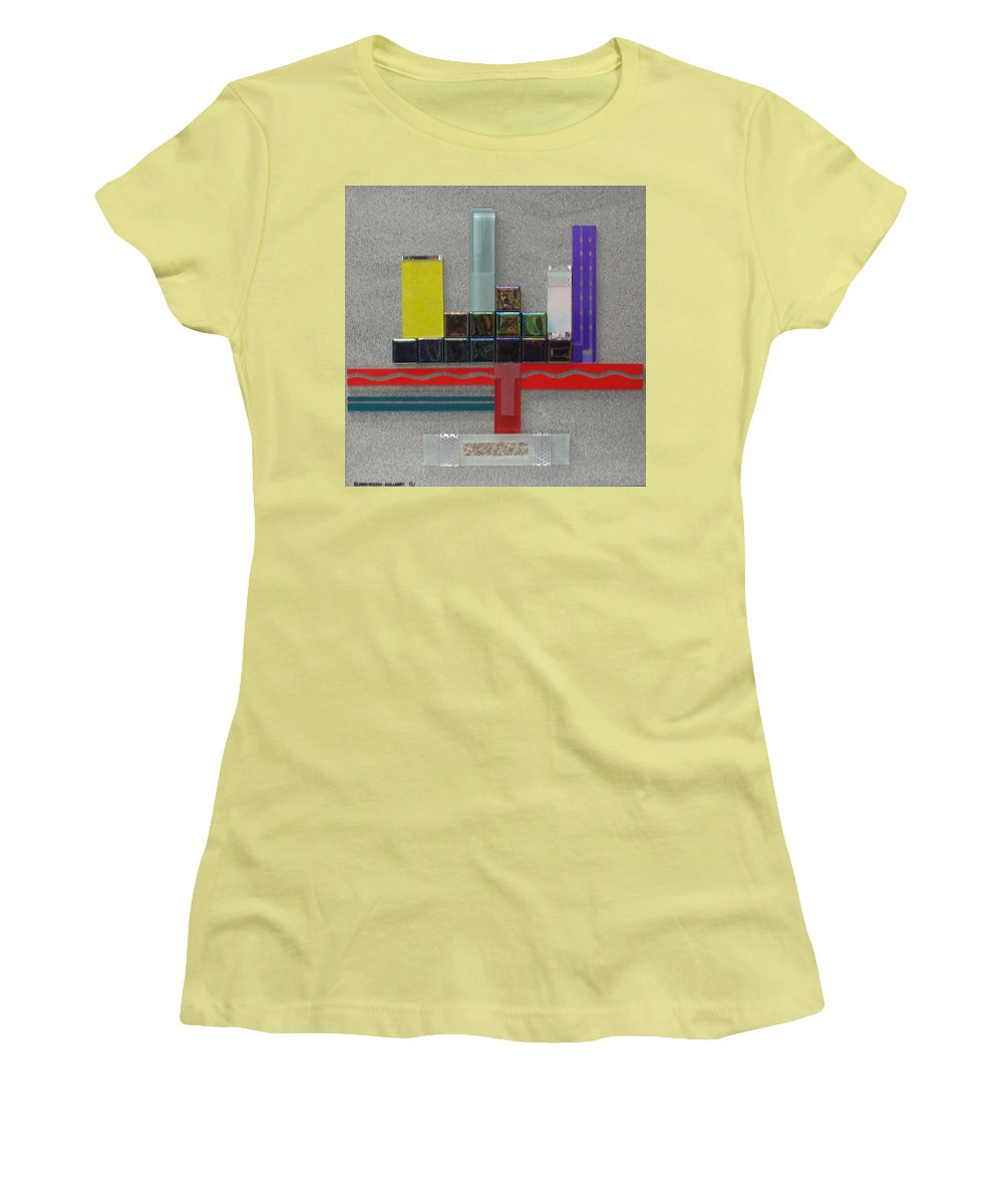 Assemblage Women's T-Shirt (Athletic Fit) featuring the relief Red River City by Elaine Booth-Kallweit