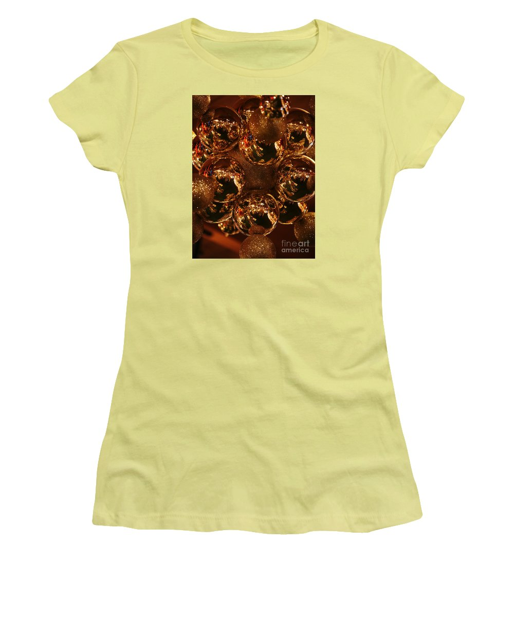 Christmas Women's T-Shirt (Athletic Fit) featuring the photograph The Christmas Gift by Linda Shafer