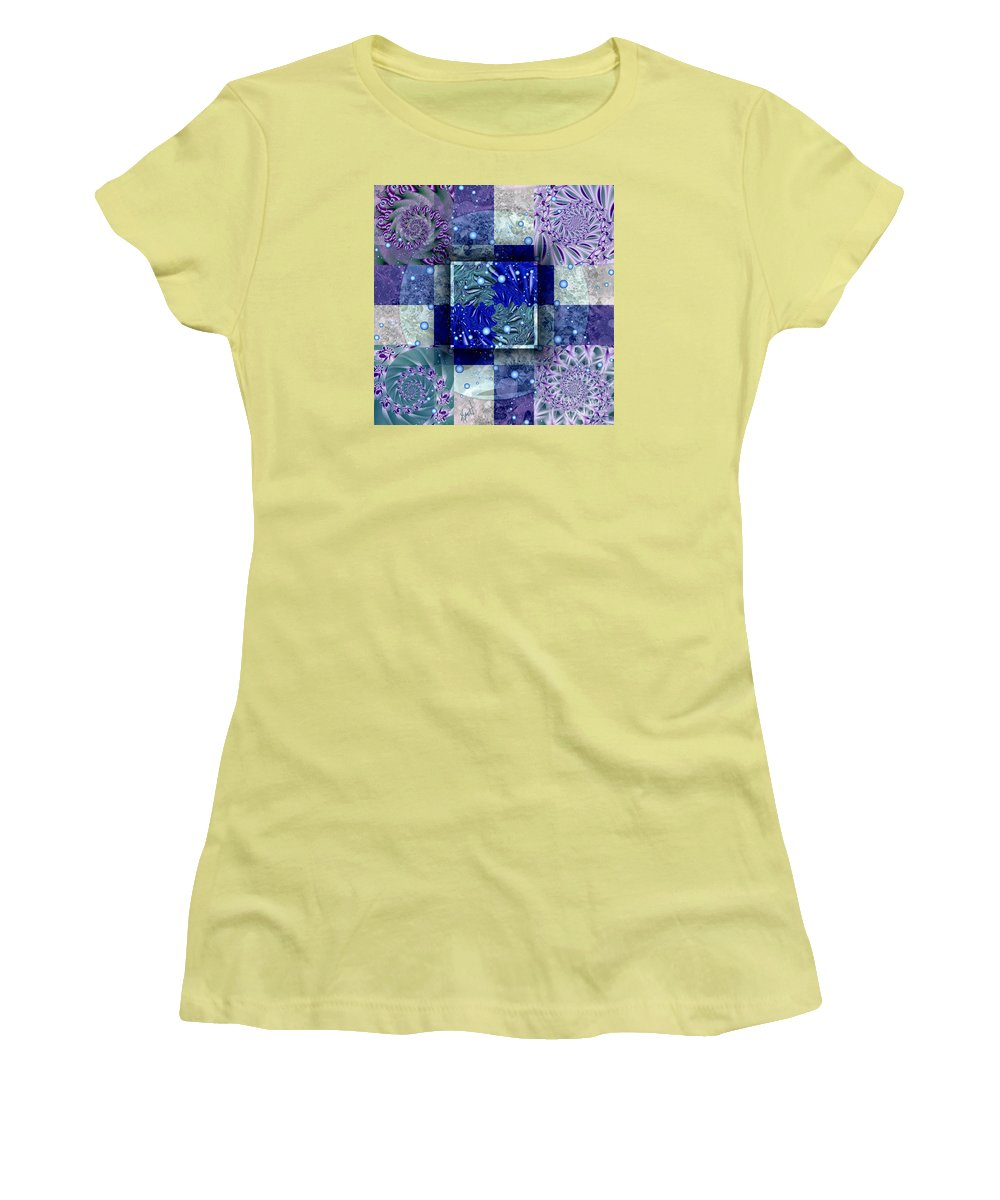 Tidepools Women's T-Shirt (Athletic Fit) featuring the digital art Tidepools by Kimberly Hansen