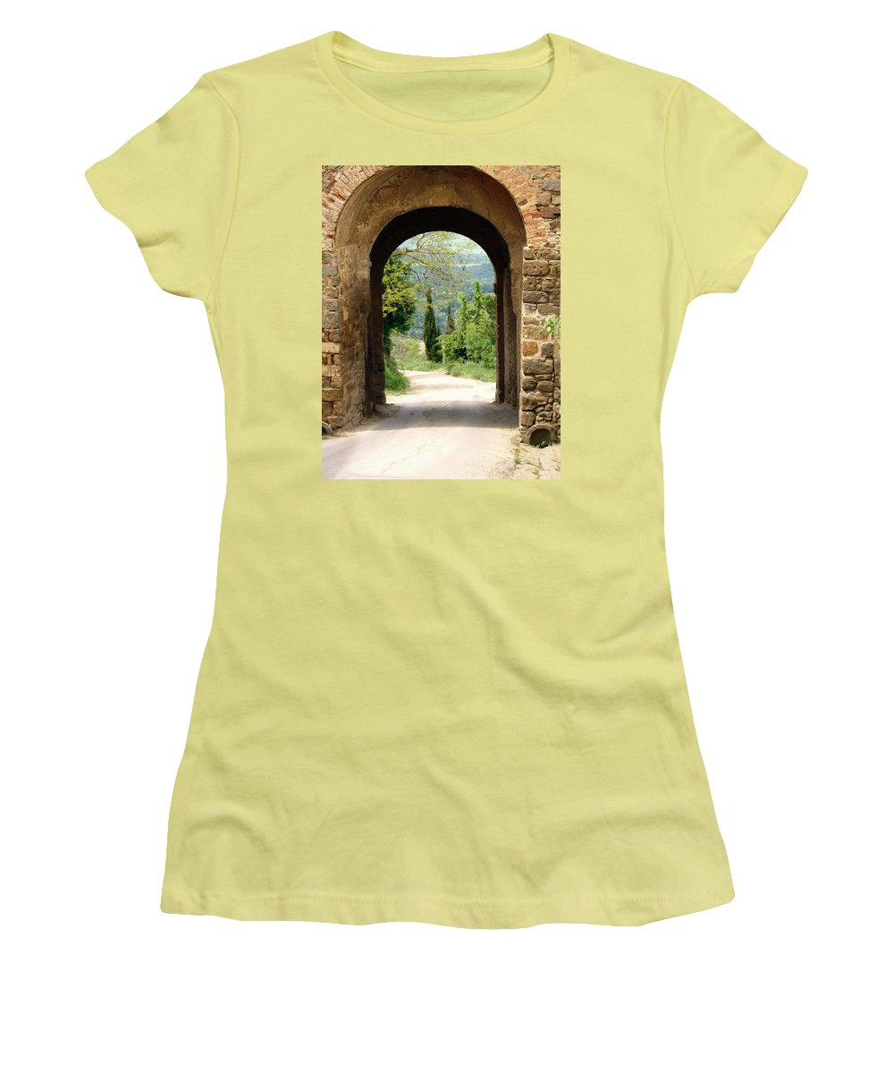What Lies Ahead Women's T-Shirt (Athletic Fit) featuring the photograph What Lies Ahead by Ellen Henneke