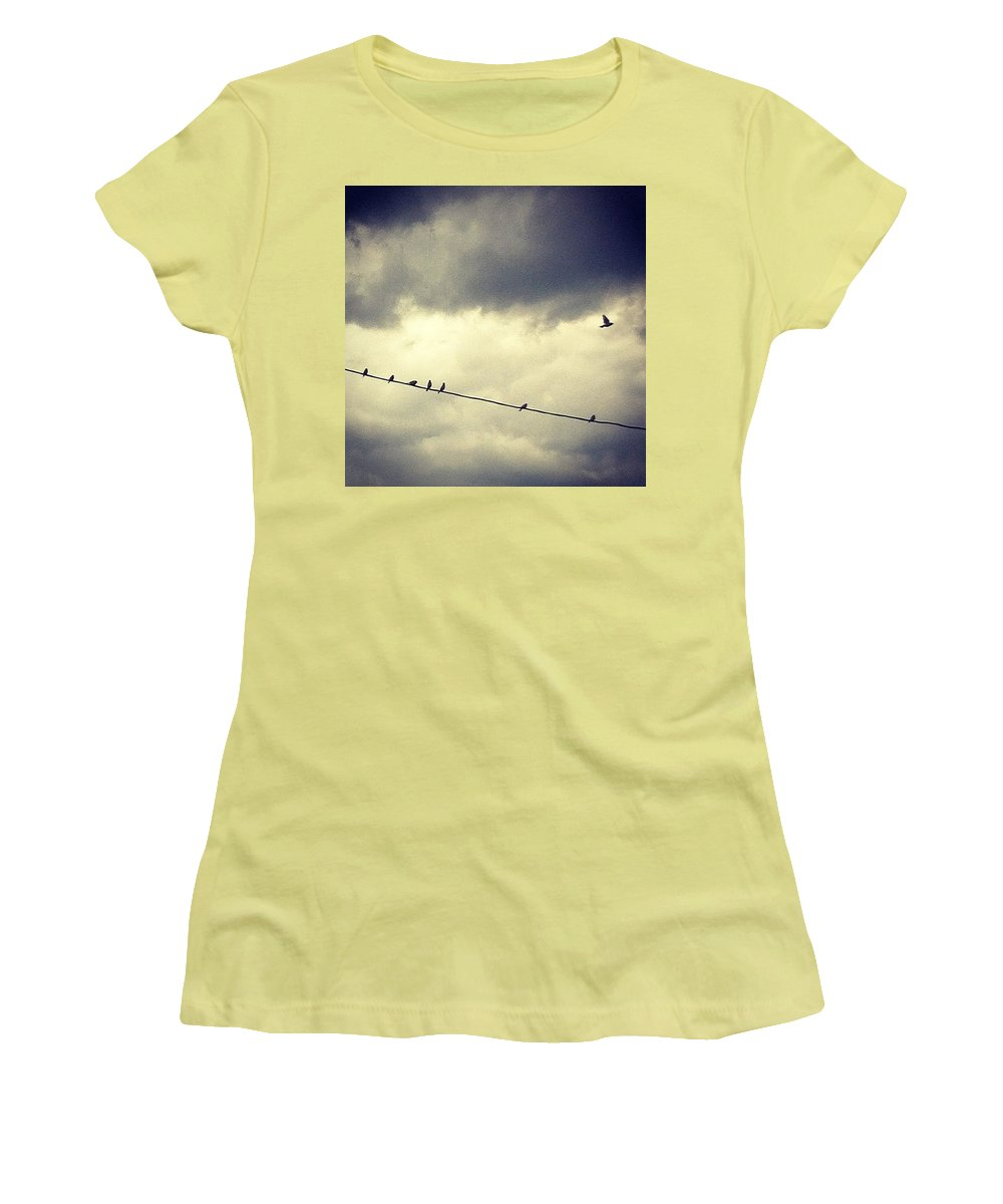 Women's T-Shirt (Athletic Fit) featuring the photograph Da Birds by Katie Cupcakes