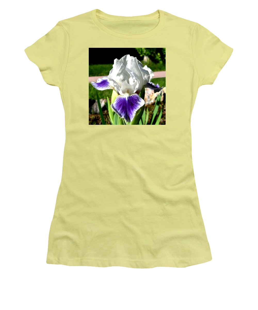 Iris Women's T-Shirt (Athletic Fit) featuring the photograph Iris Elegance by Will Borden