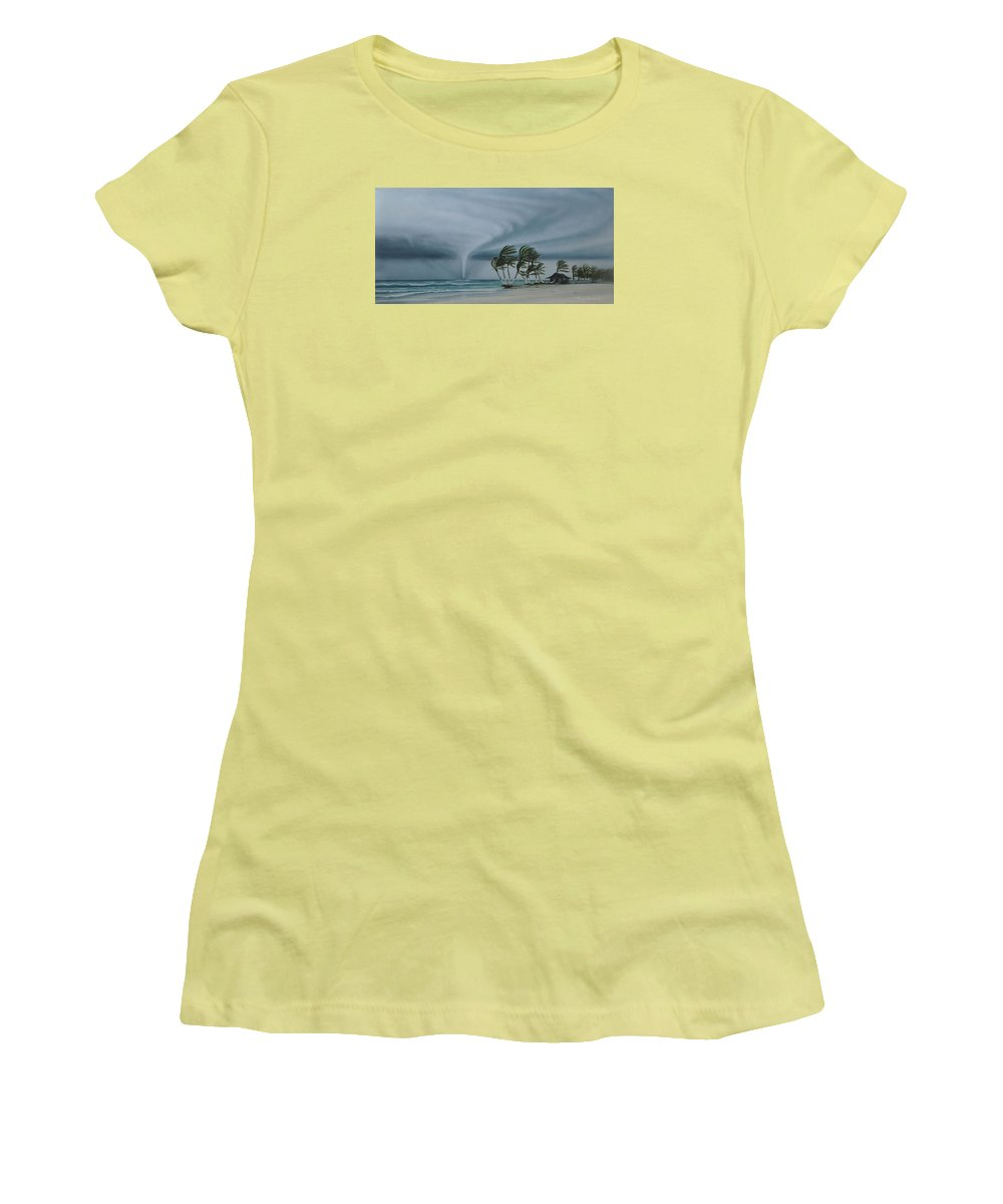 Women's T-Shirt (Athletic Fit) featuring the painting Mahahual by Angel Ortiz