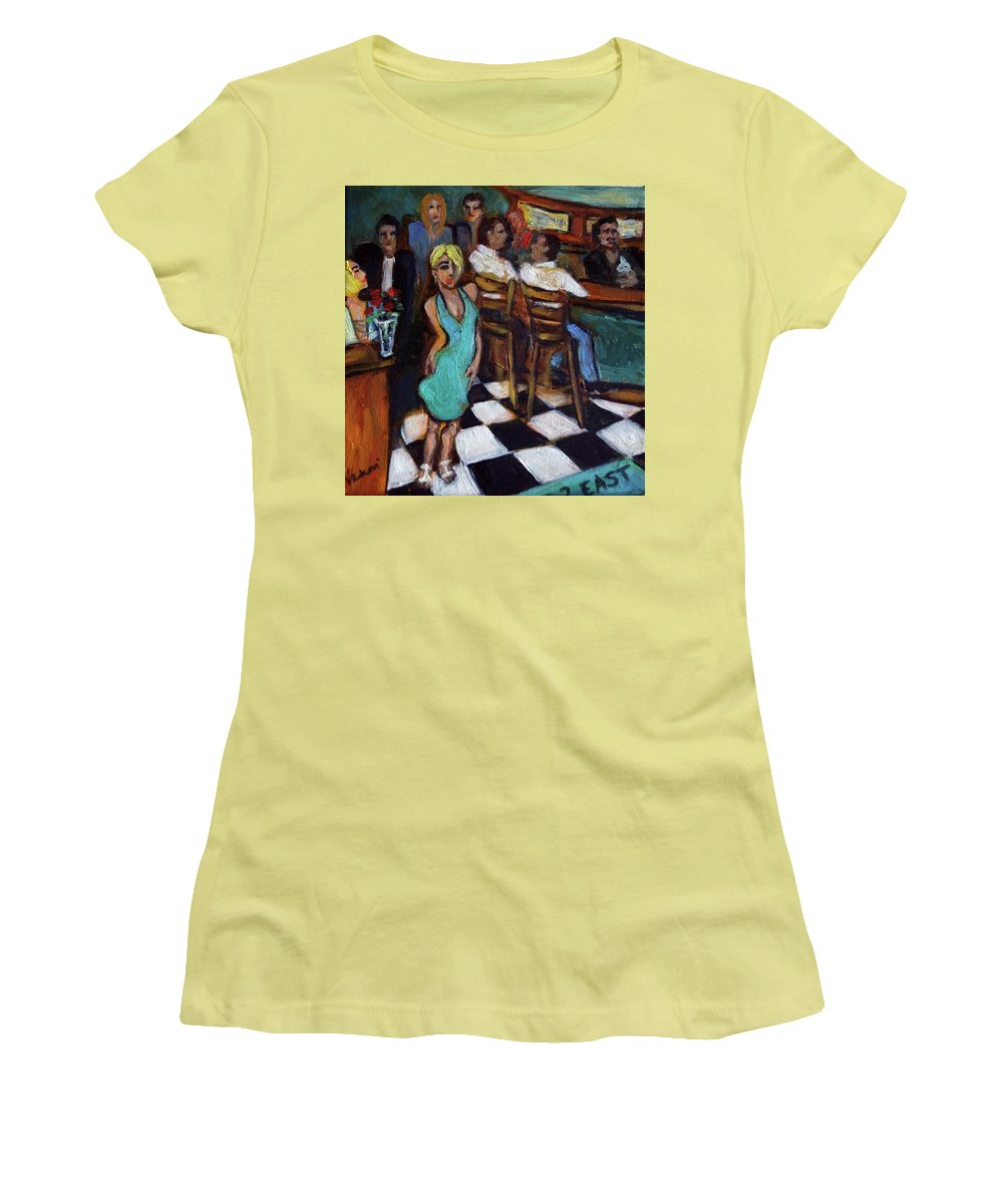 Restaurant Women's T-Shirt (Athletic Fit) featuring the painting 32 East by Valerie Vescovi