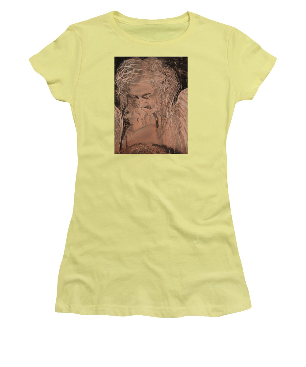 Women's T-Shirt (Athletic Fit) featuring the painting Angel 2 by J Bauer