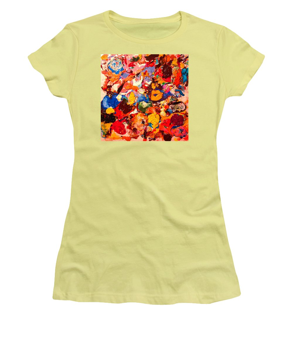 Artist Palette Women's T-Shirt (Athletic Fit) featuring the painting Artist Palette by Natalie Holland