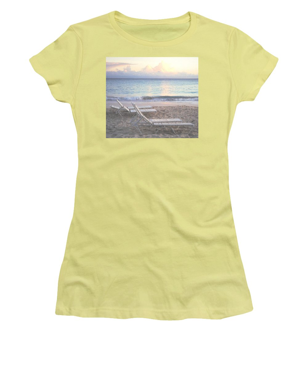 Aruba Women's T-Shirt (Athletic Fit) featuring the photograph Aruba Beach by Ian MacDonald