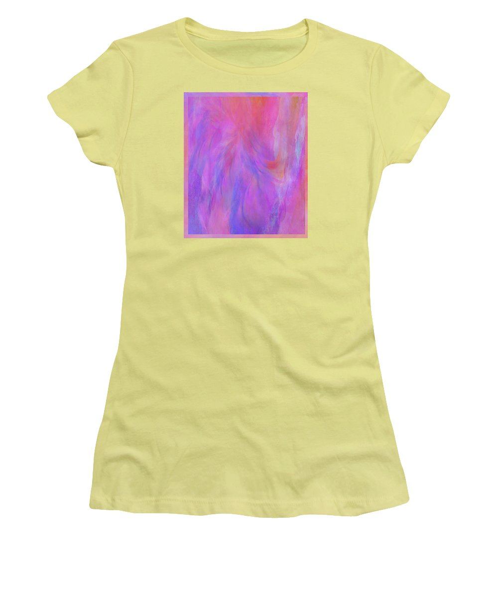 Digital Art Women's T-Shirt (Athletic Fit) featuring the digital art Blossom by Linda Murphy