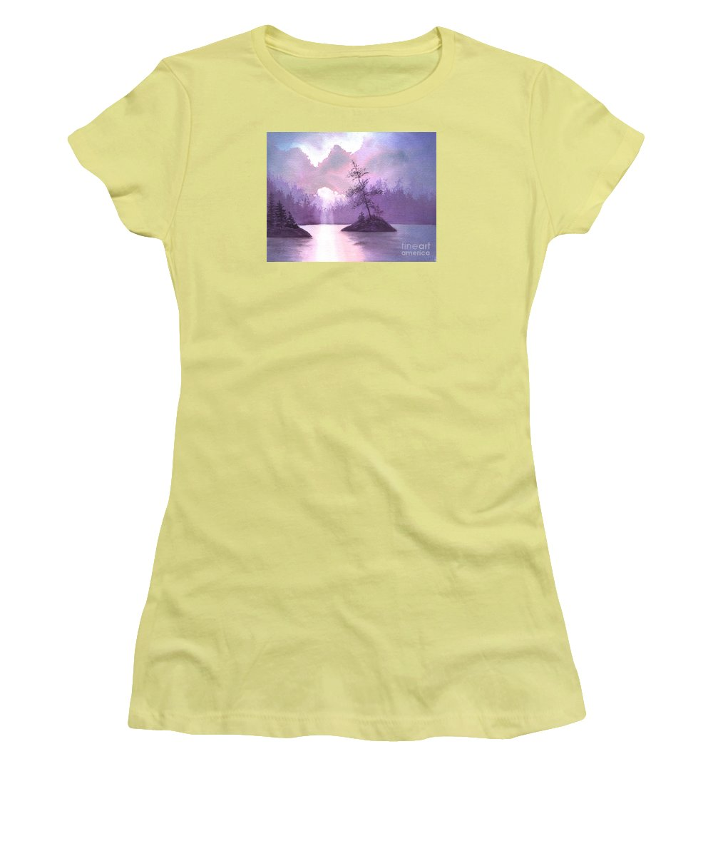Landscape Women's T-Shirt (Athletic Fit) featuring the painting Breakthrough by Lynn Quinn
